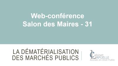 FORMATION SUR LA DEMATERIALISATION DES MARCHES PUBLICS AUPRES DE L'AMF 31